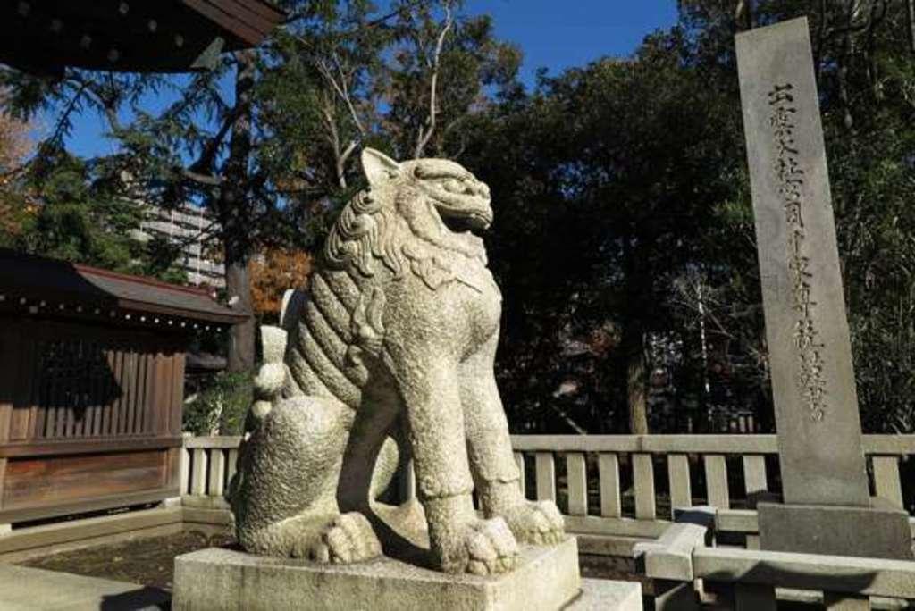 川口神社の狛犬