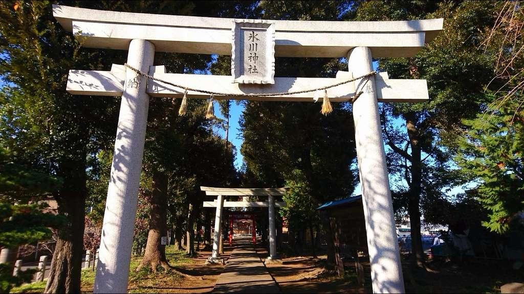 大和田氷川神社の鳥居