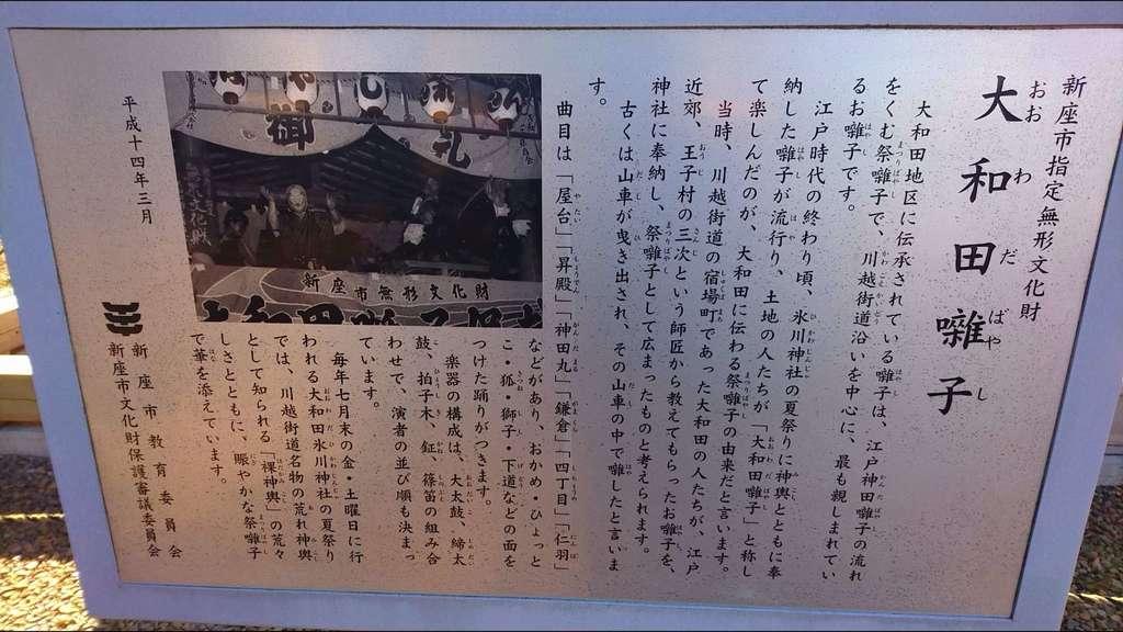 大和田氷川神社の歴史
