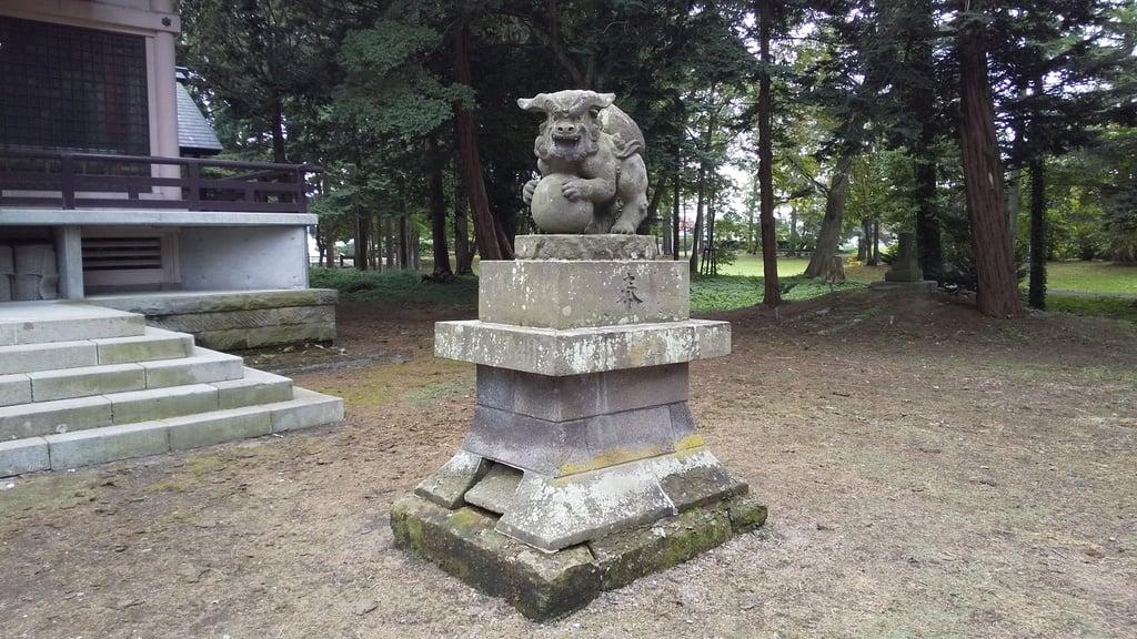 長沼神社の狛犬