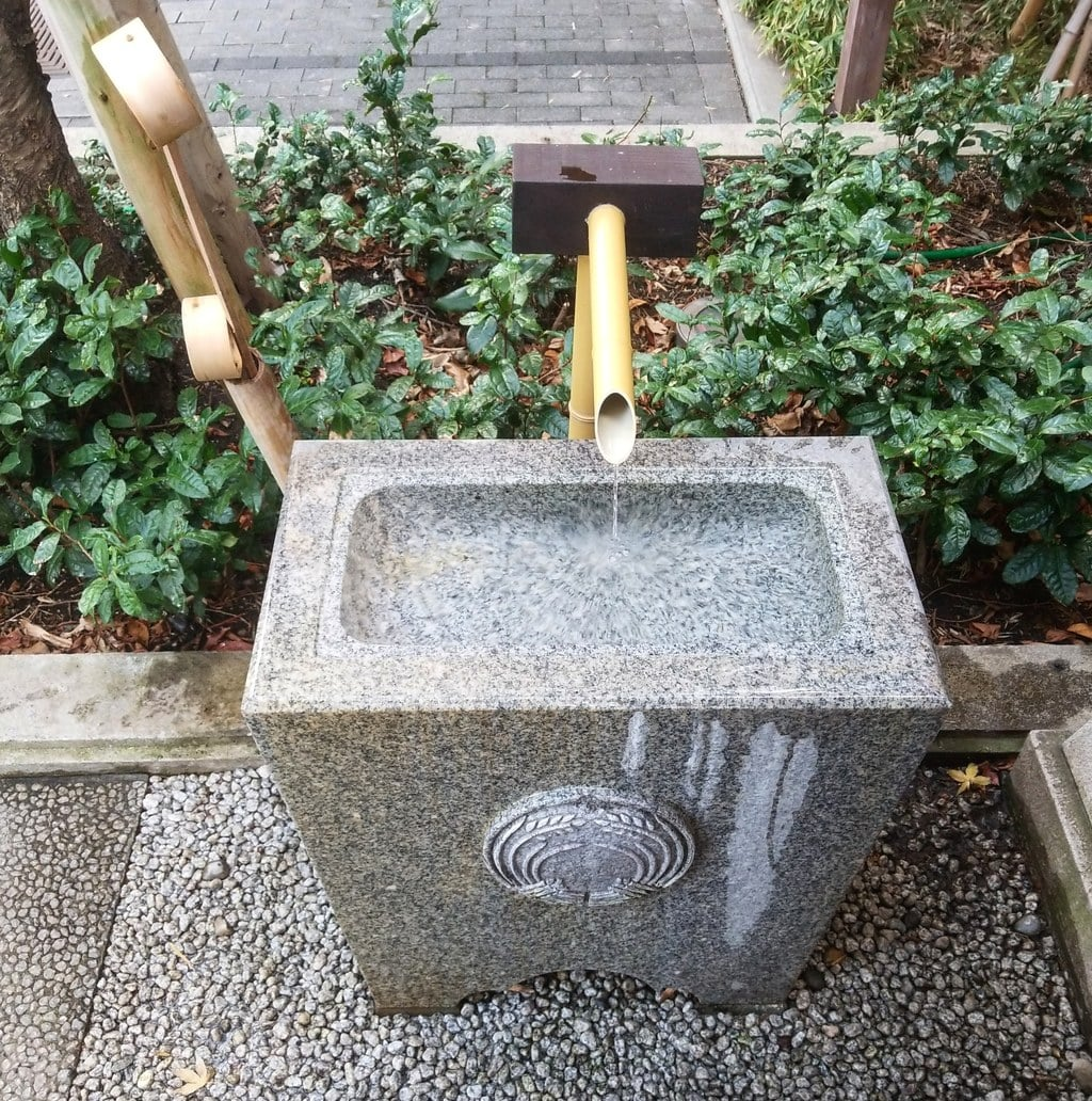 茶の木神社の手水
