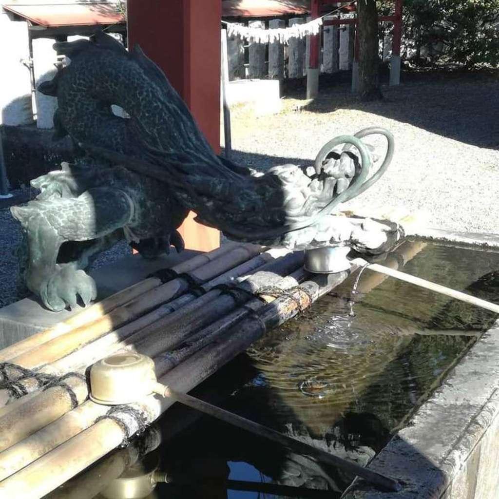 一瓶塚稲荷神社の手水