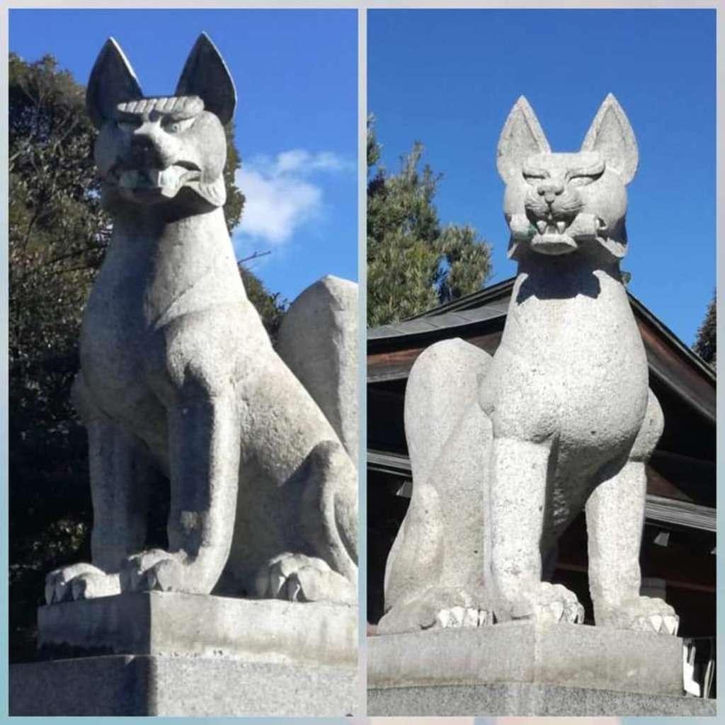 一瓶塚稲荷神社の狛犬