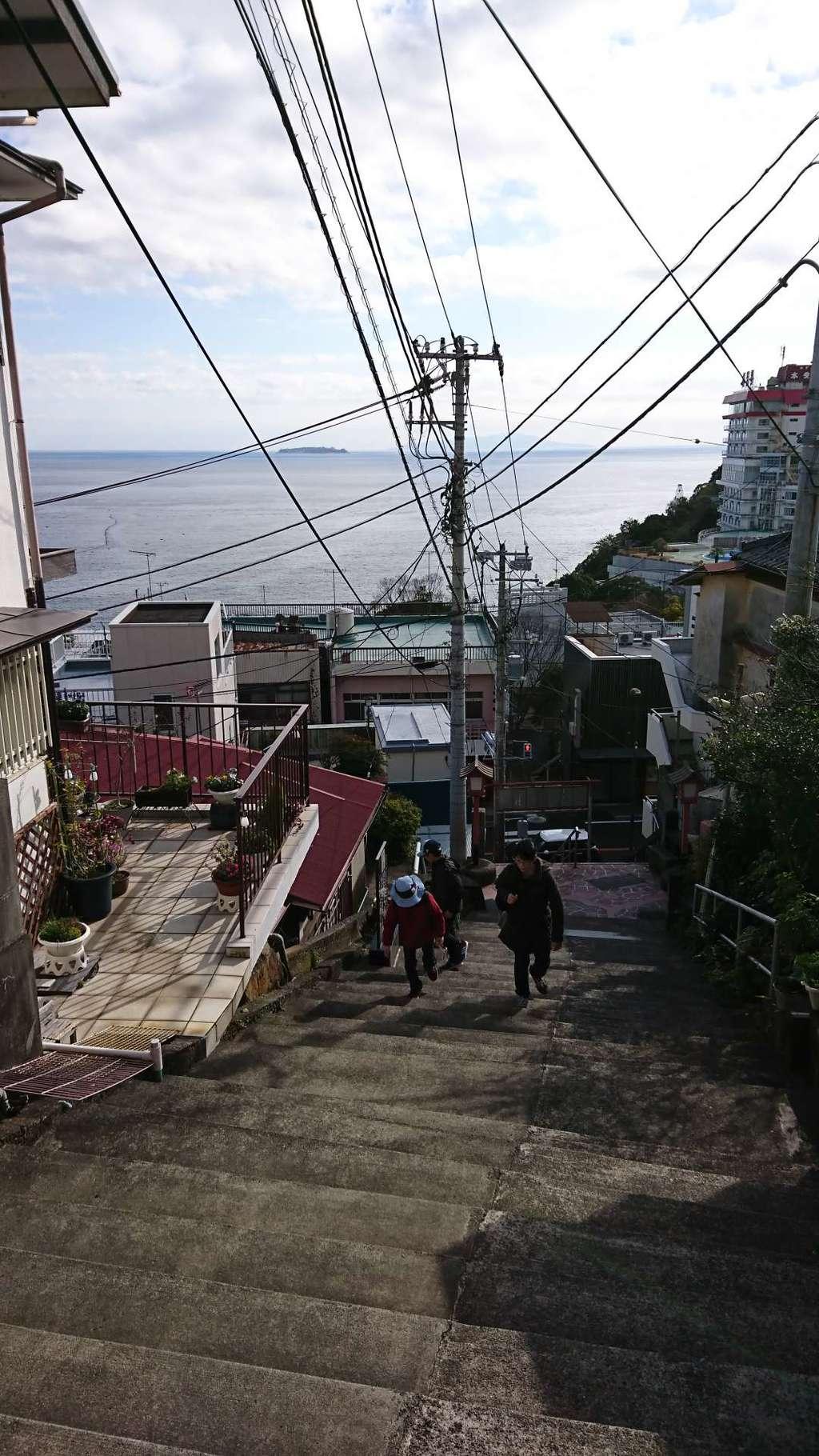 伊豆山神社の景色