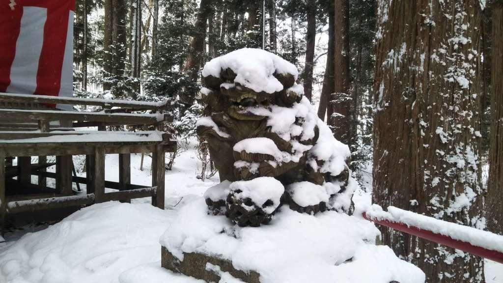 桜松神社の狛犬