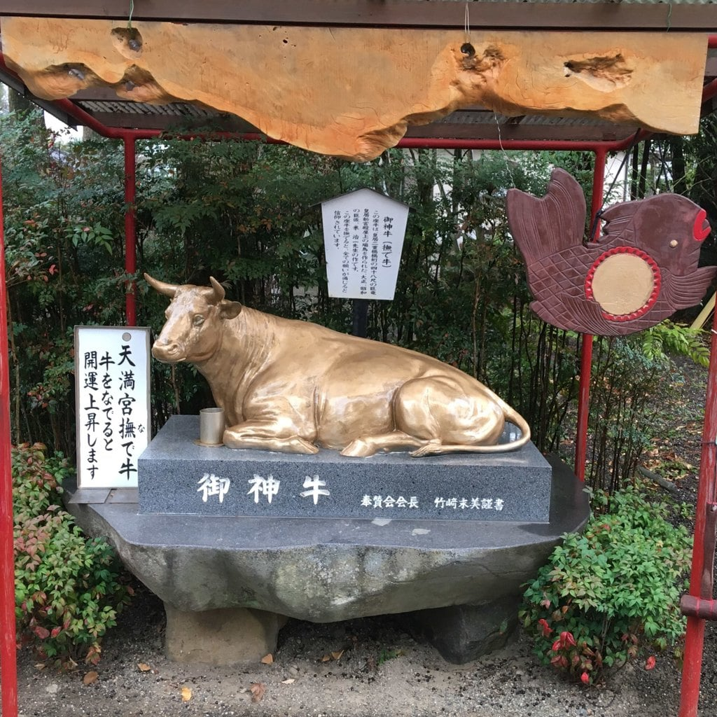 米ノ津天満宮の狛犬