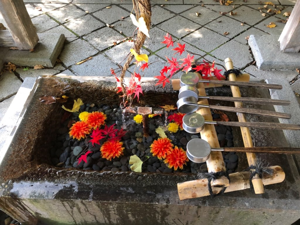 熊野大社の手水