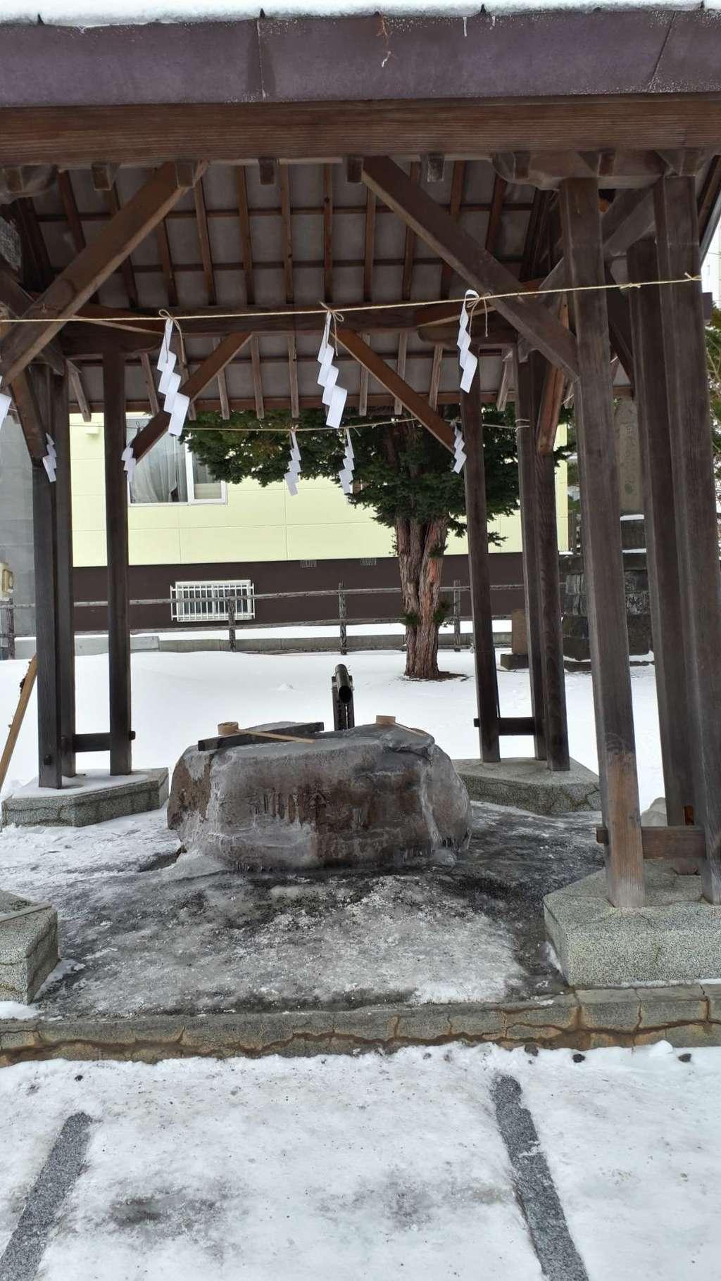 札幌村神社の手水