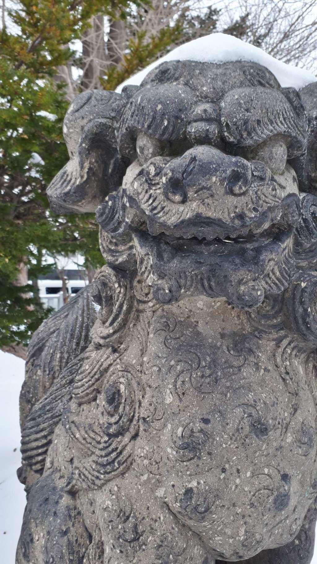 札幌村神社の狛犬