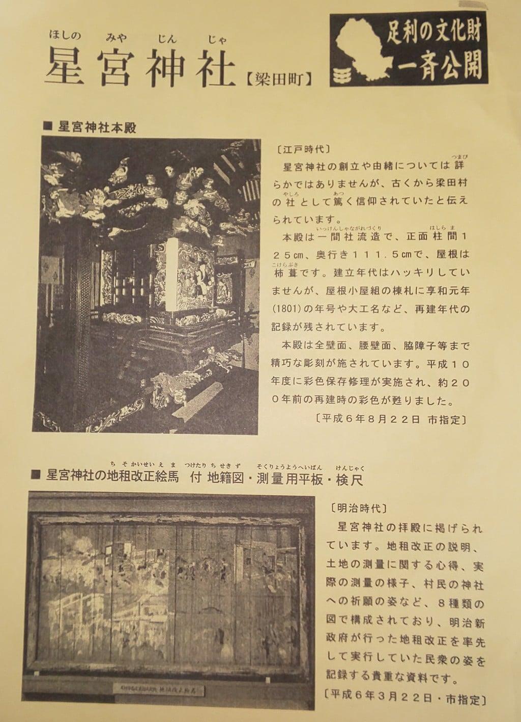 星宮神社(下野國・梁田宿総鎮守社)の歴史