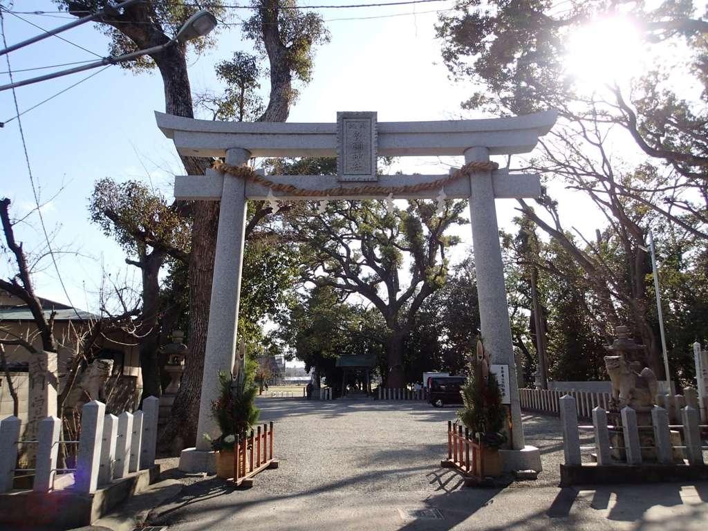 曽禰神社の鳥居