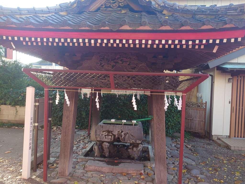 於菊稲荷神社の手水