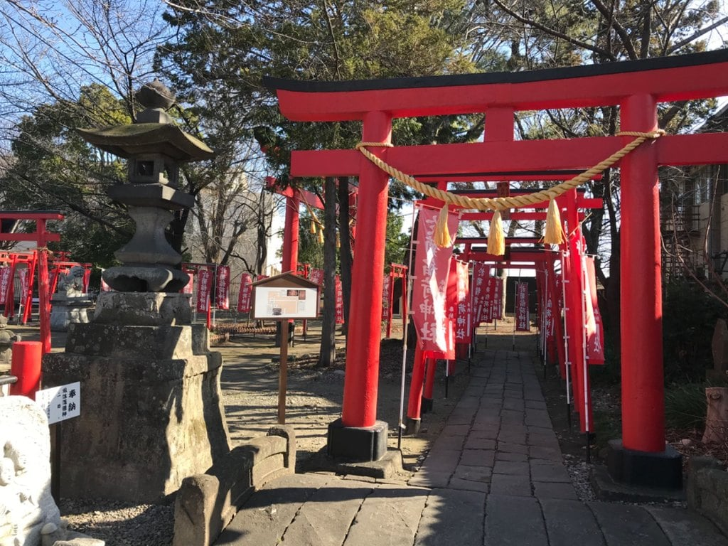 於菊稲荷神社の鳥居