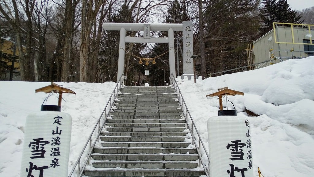 定山渓神社の鳥居
