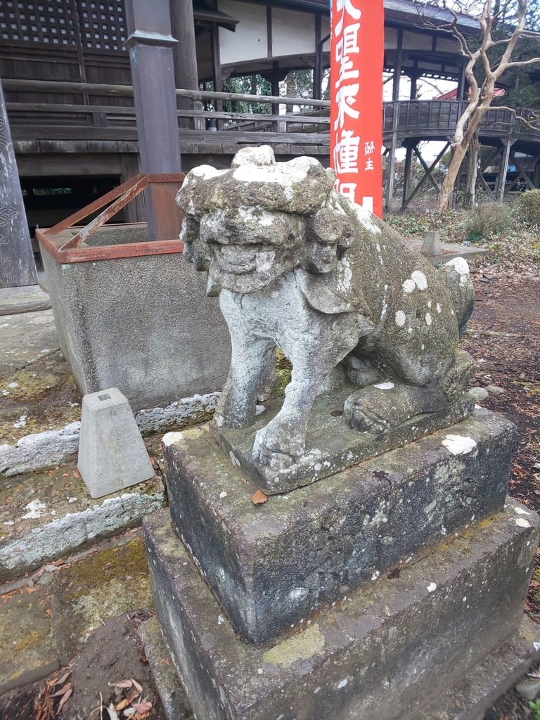 崇真寺(開運犬り切不動尊)の狛犬