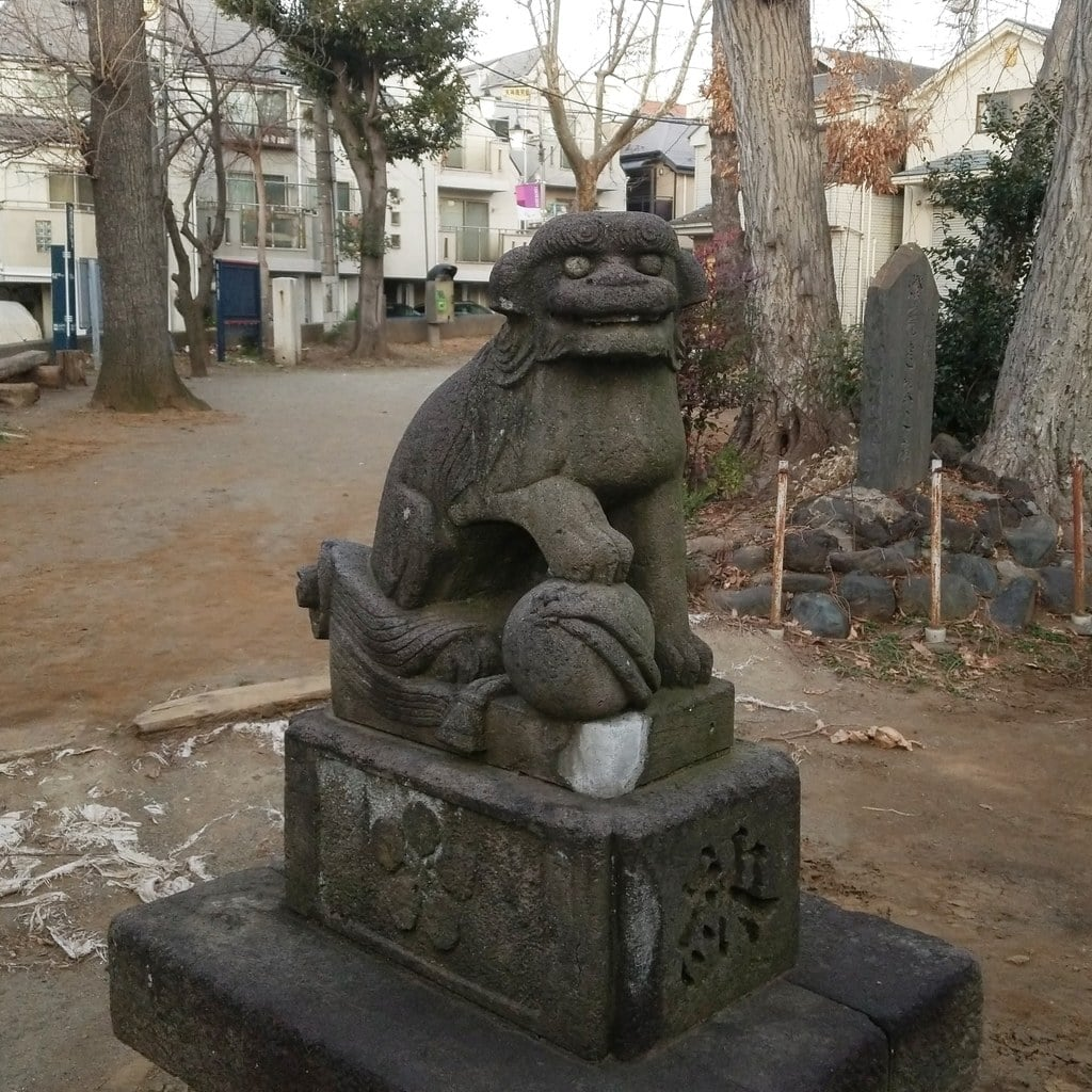 打越天神北野神社の狛犬