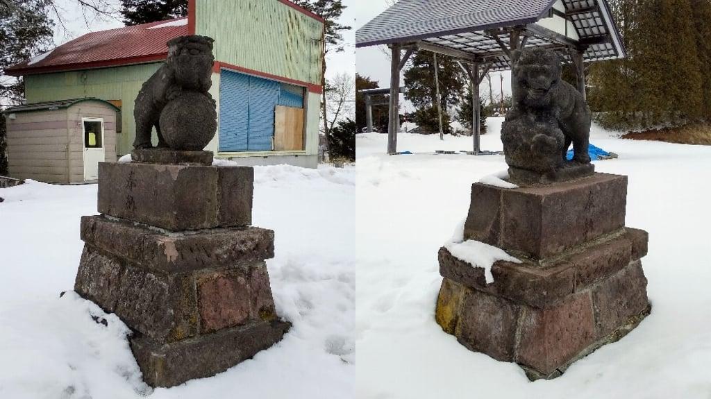 早来神社の狛犬