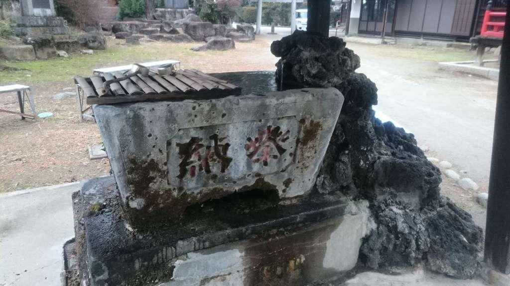 賀茂春日神社の手水