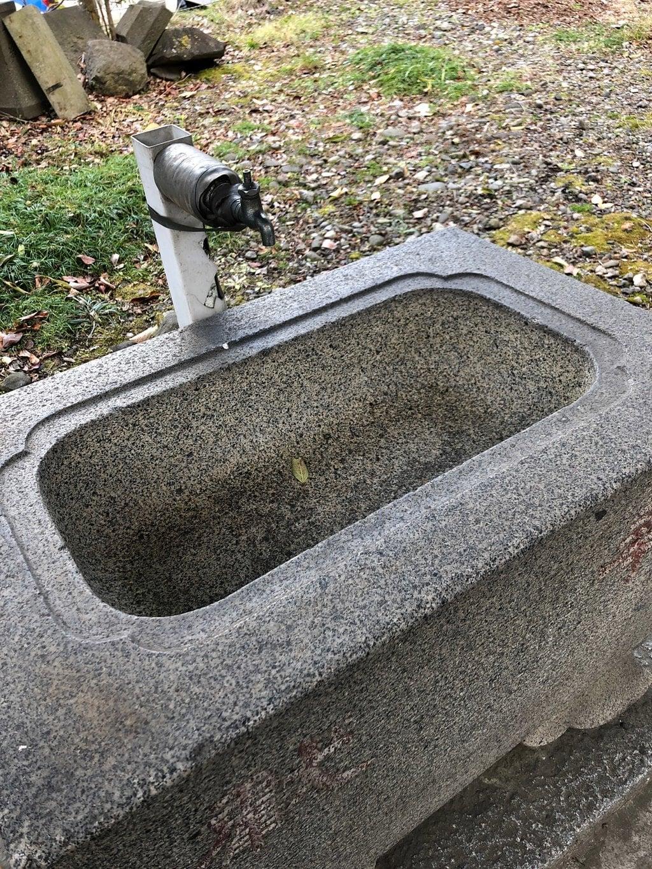 蛎崎神社の手水
