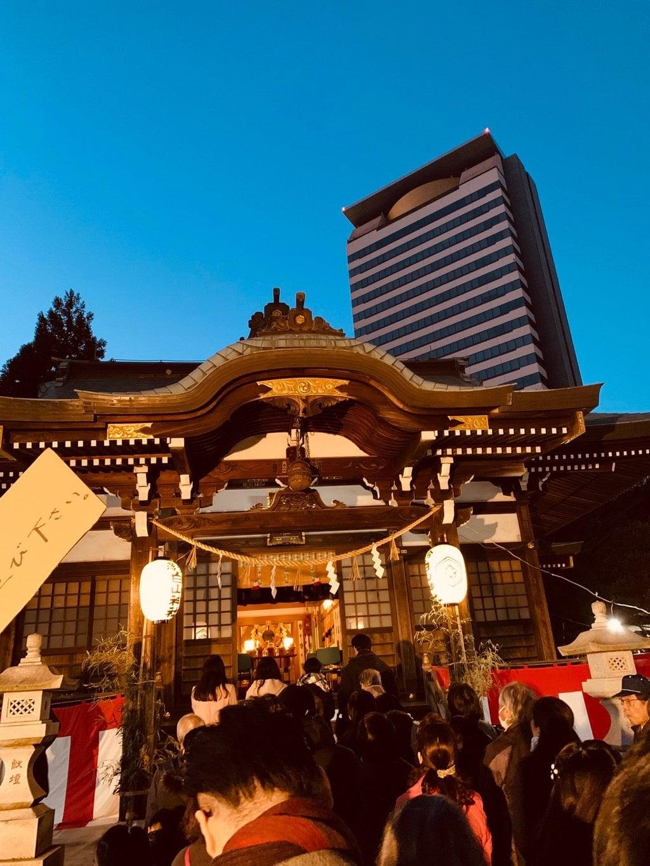 落合白山神社の本殿