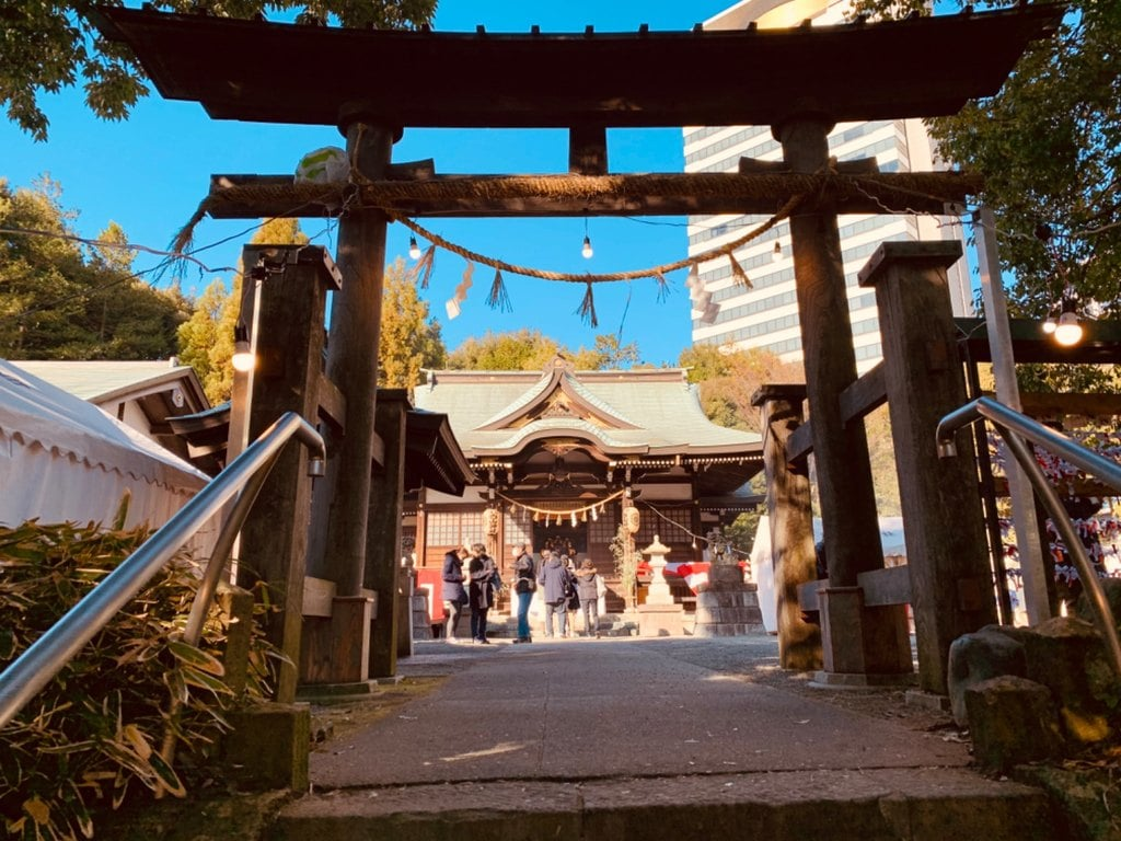 落合白山神社の鳥居