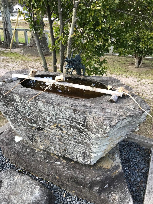 大野津神社の手水