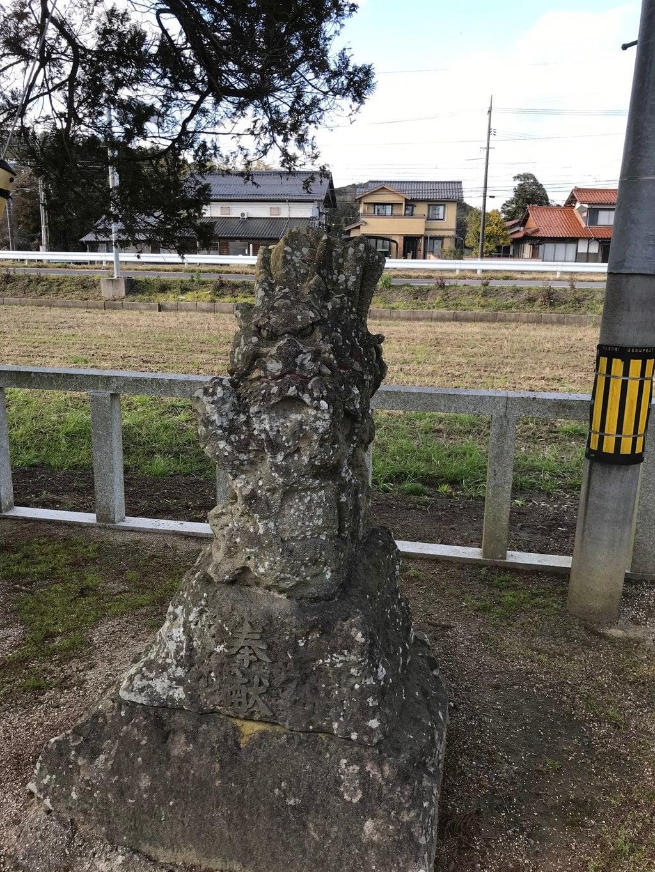 大野津神社の狛犬