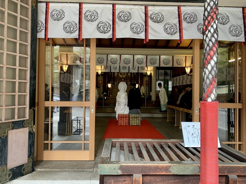 坐摩神社の結婚式