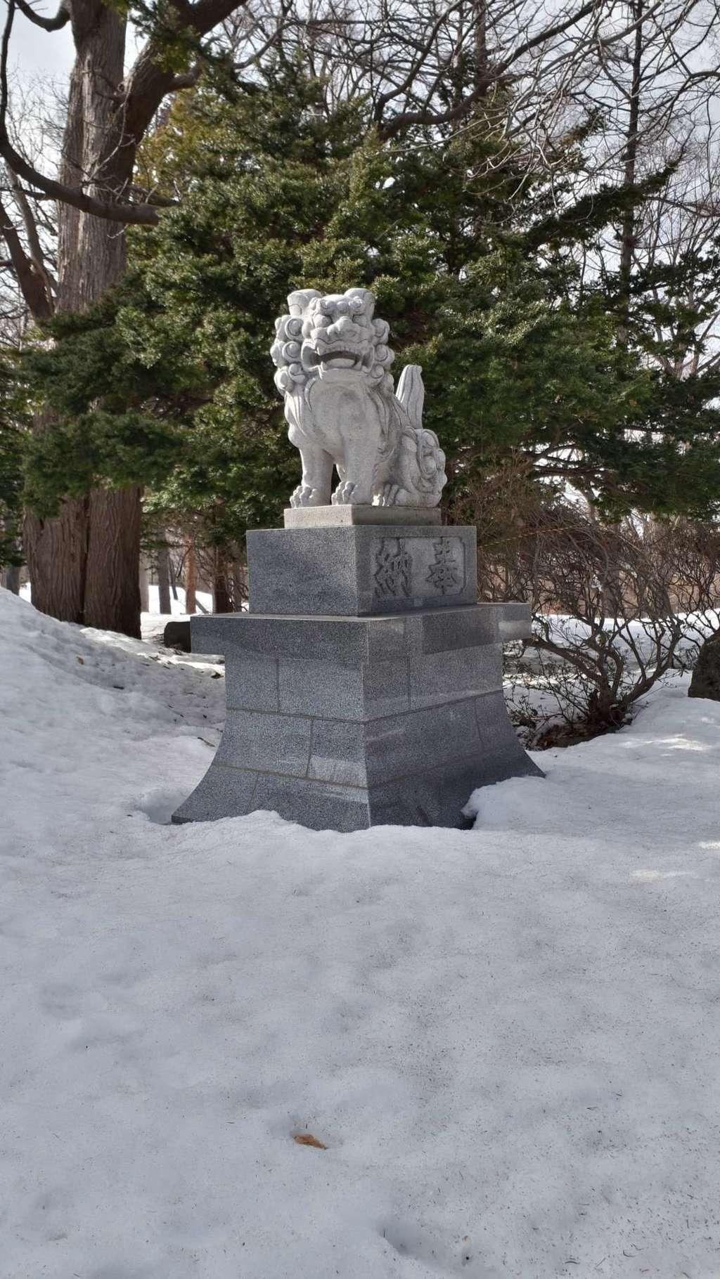 月寒神社の狛犬