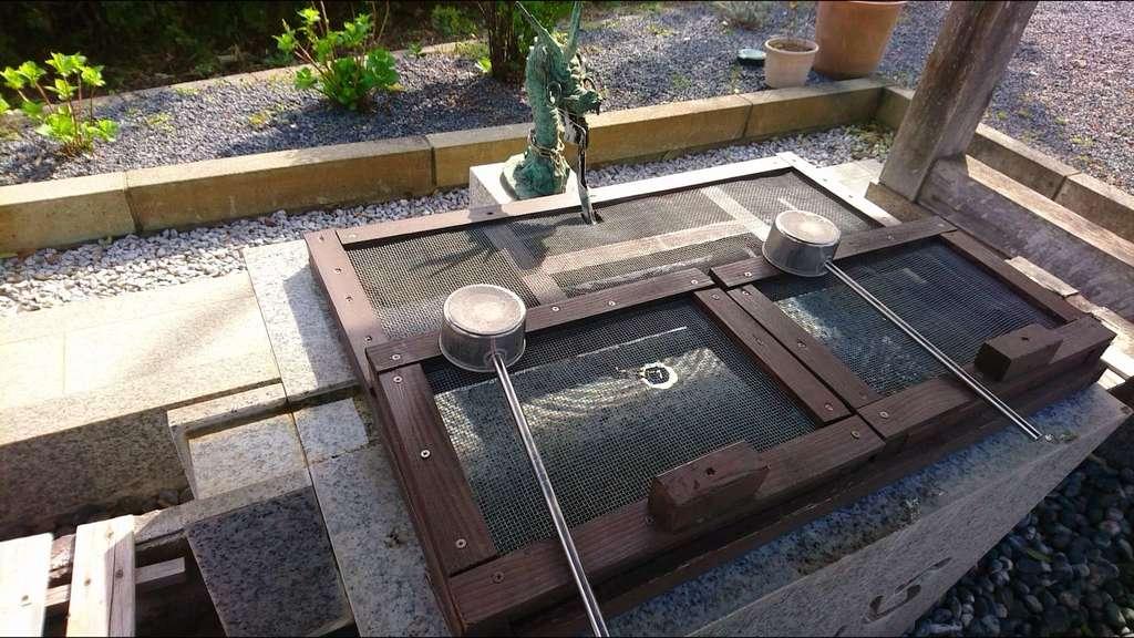 朝日氷川神社の手水