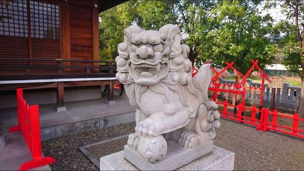 朝日氷川神社の狛犬