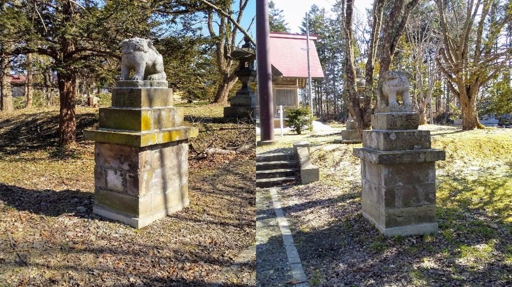 角田神社の狛犬