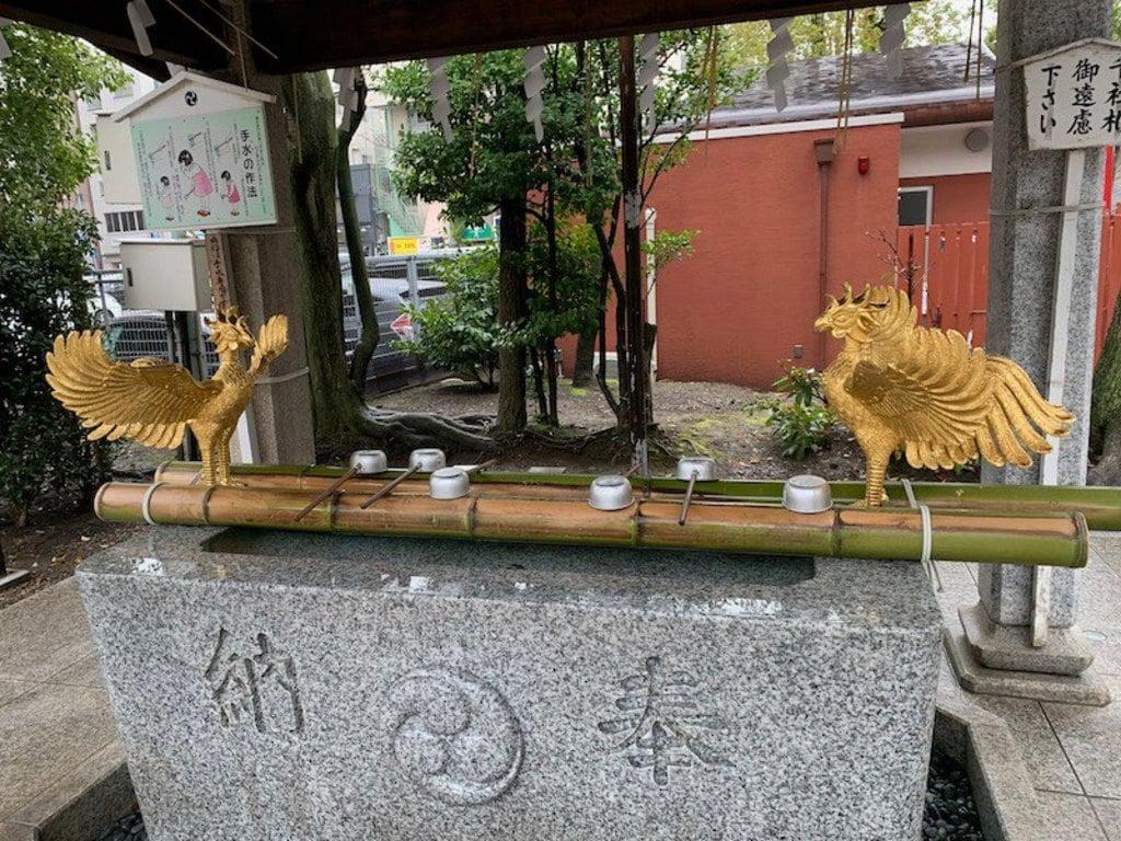富岡八幡宮の手水