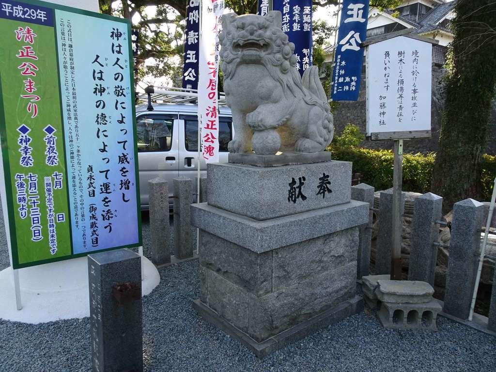 加藤神社の狛犬