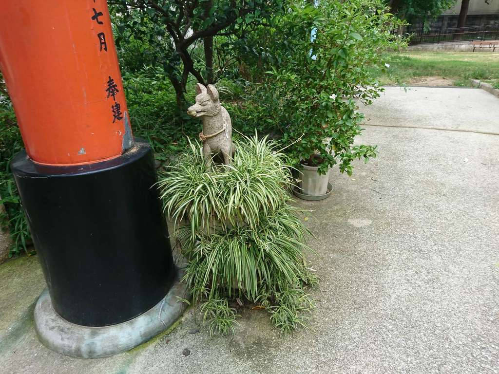 産湯稲荷神社の狛犬