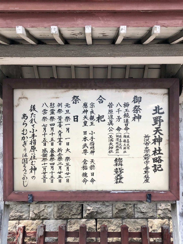 北野天神社の歴史