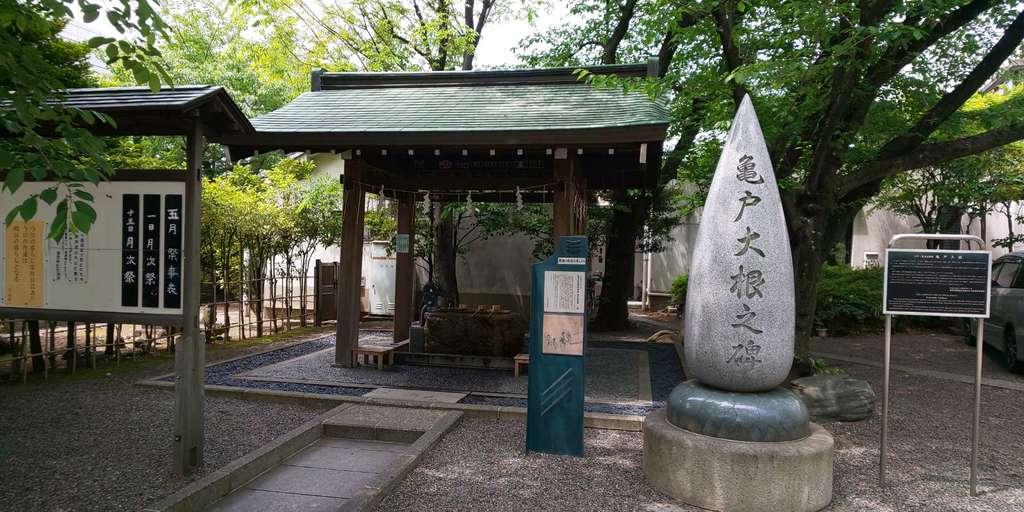 亀戸香取神社の手水