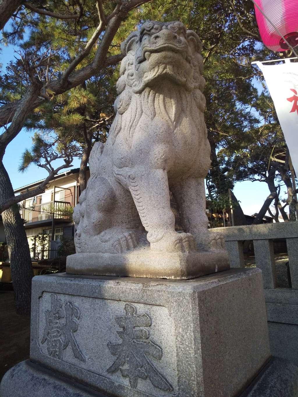 片瀬諏訪神社の狛犬