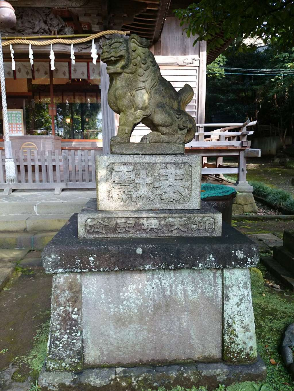 居神神社の狛犬