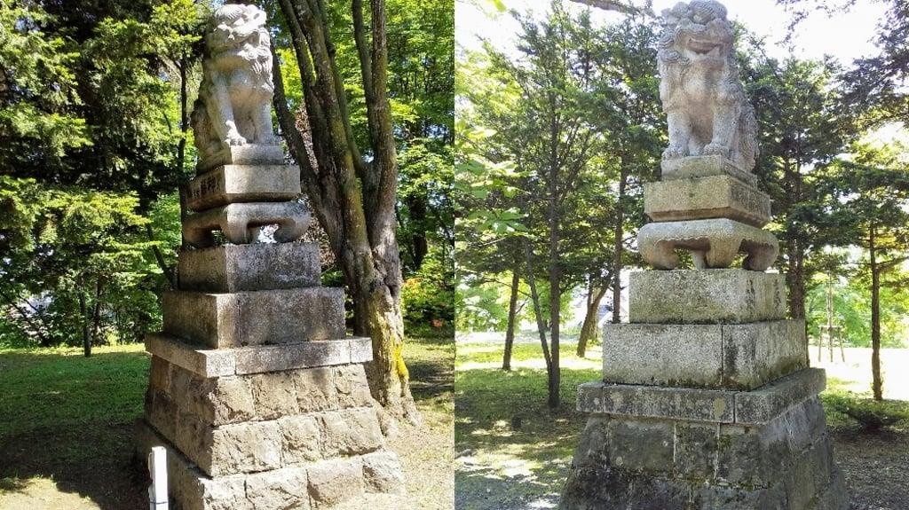 東神楽神社の狛犬
