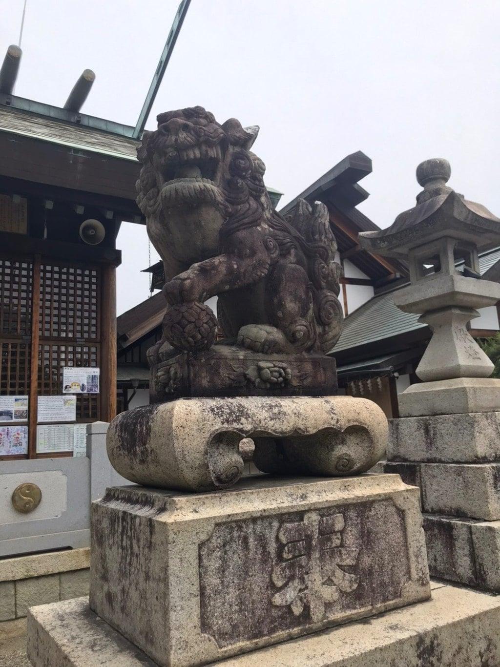 御井神社の狛犬