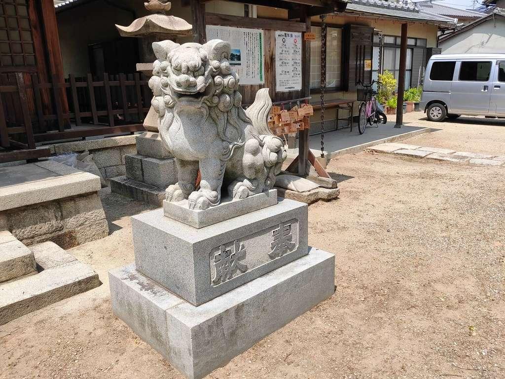 柴島神社の狛犬