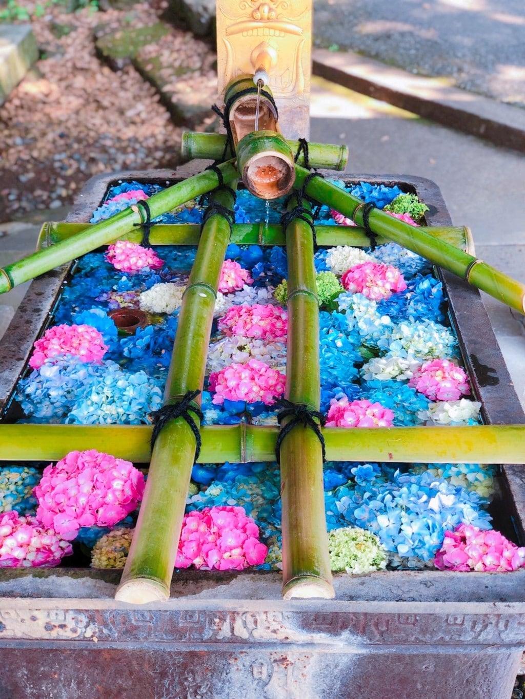 唐澤山神社の手水
