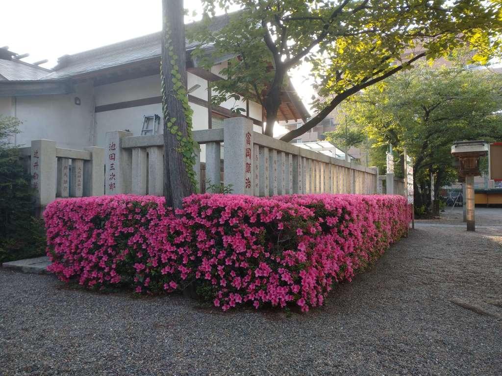 元郷氷川神社の庭園