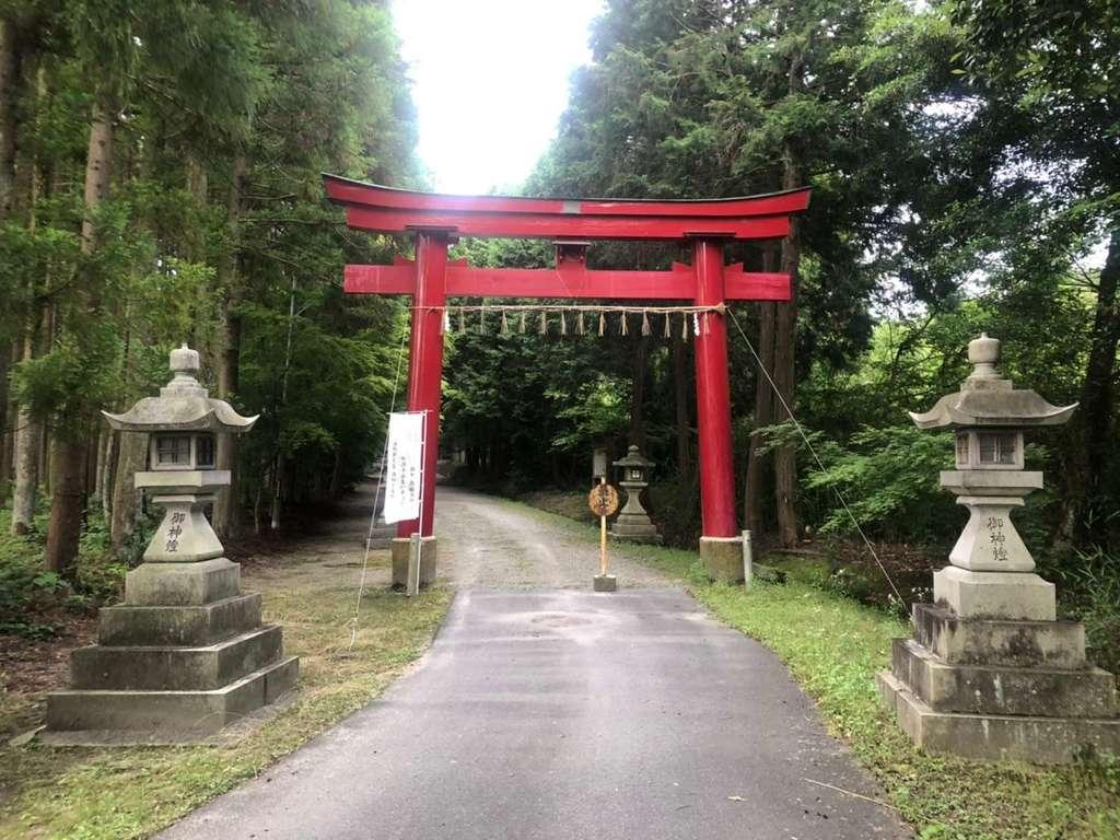 大笹原神社の鳥居