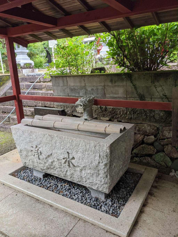 真長寺の手水