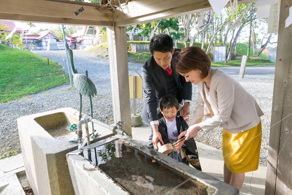 釧路一之宮 厳島神社の手水