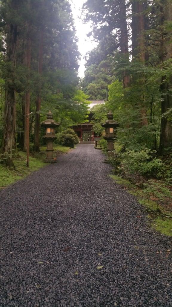 御岩神社の景色