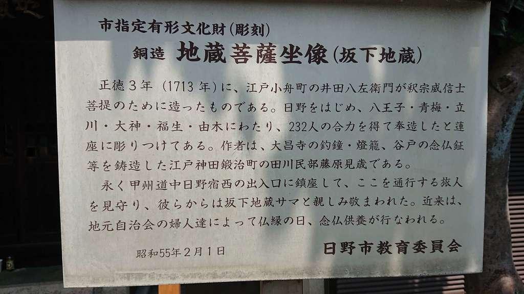 坂下地蔵堂の歴史