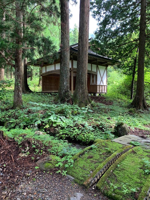早池峯神社の庭園